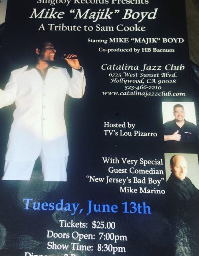 Mike Boyd Catalina Jazz Club Promo Poster