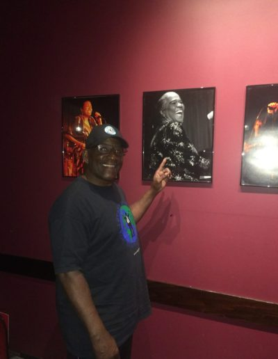 Mike Boyd Admiring Past Jazz Greats before Performing a Tribute to Sam Cooke at Catalina Jazz Club, Sunset Blvd., Hollywood, California