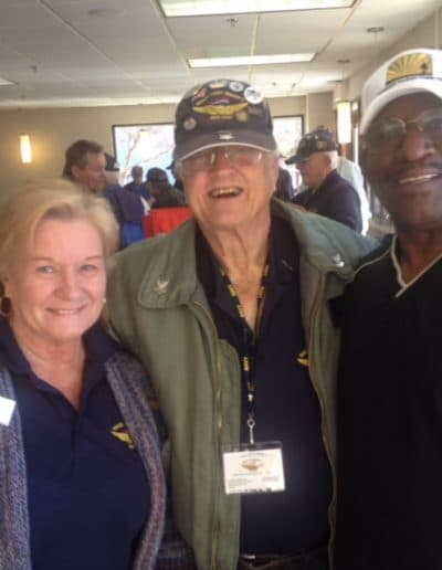 Mike Boyd with Armed Forces Veterans at Wings over Wendy's Military Breakfast